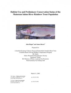 Habitat Use and Preliminary Conservation Status of the Mainstem Salmo River Rainbow Trout Population